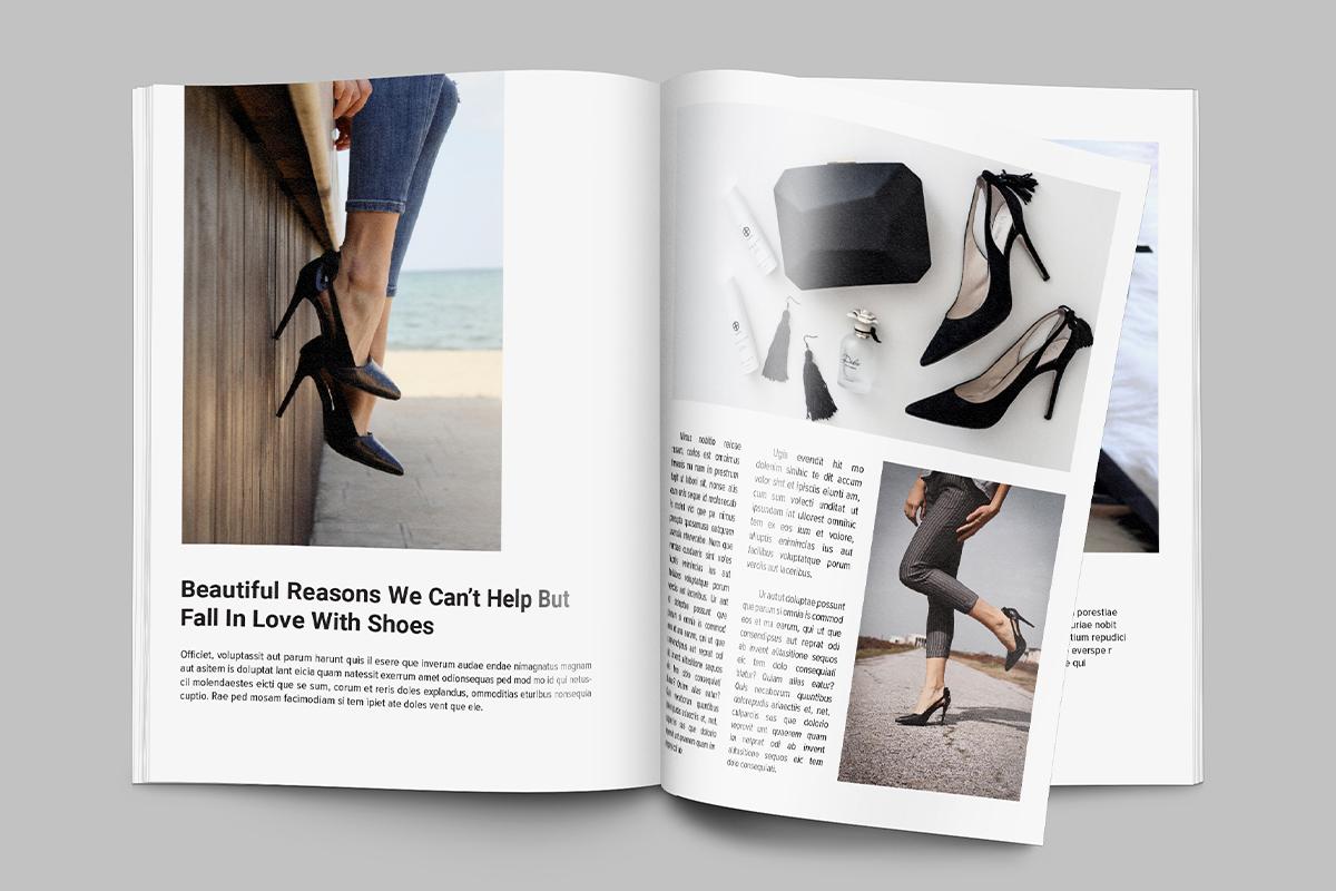 Women's fashion magazine in a print edition
