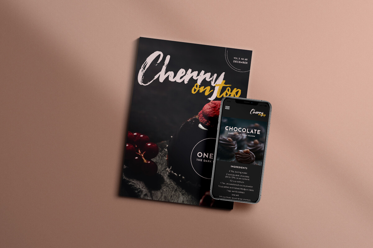 Cooking magazine converted into a magazine website