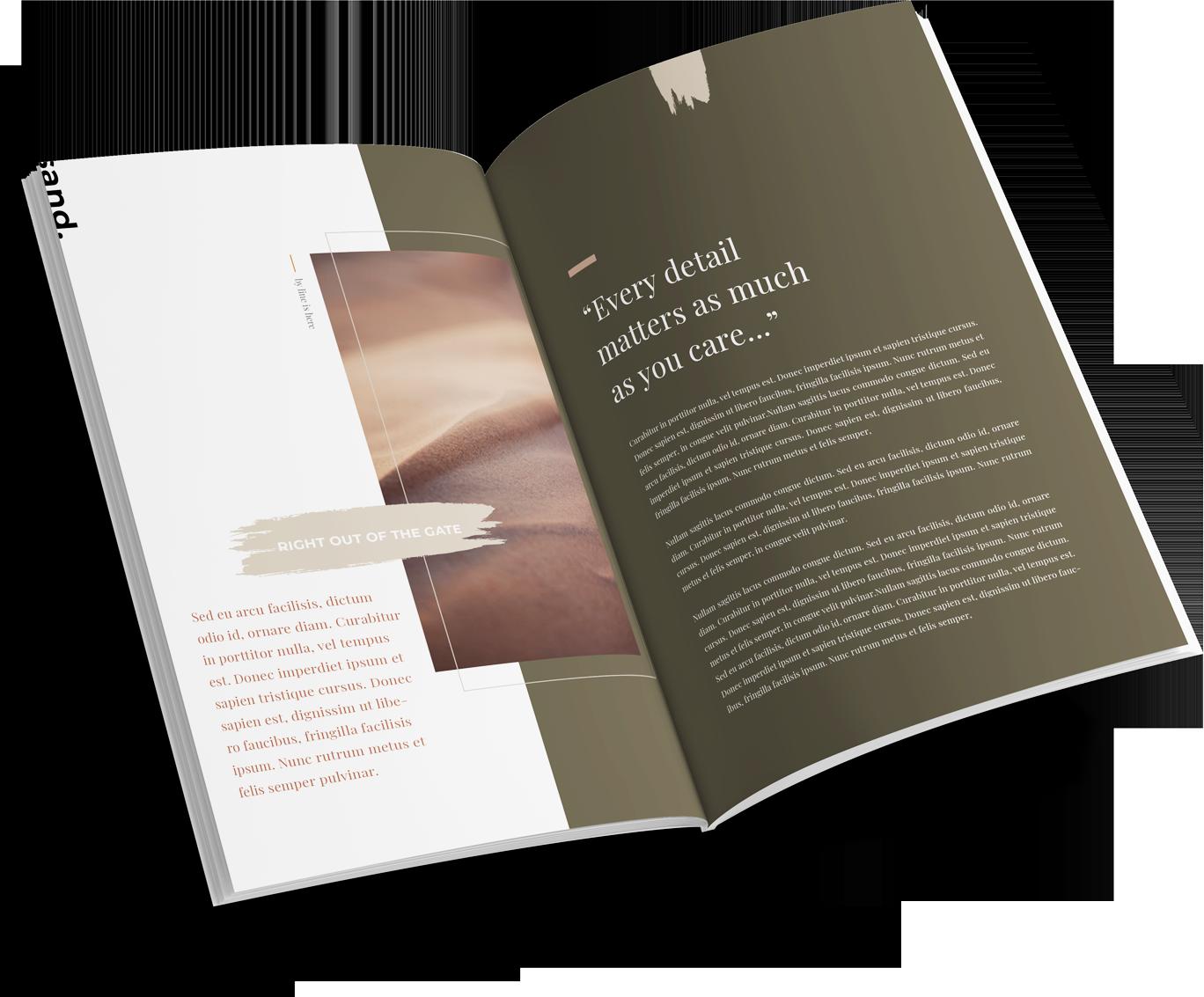 Magazine layout design services